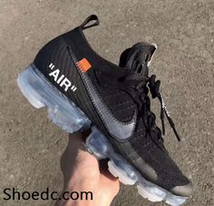 new product 87023 99151 OFF WHITE x Nike Air VaporMax 2018 OW 2.0 Flyknit Black Women Men Running  Shoes For