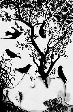 "Saatchi Online Artist: Loui Jover; Pen and Ink, 2013, Drawing ""mind birds"""