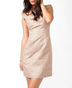 Or wedding dress? Forever21/Love 21 Mosaic Metallic Sheath Dress $27.80