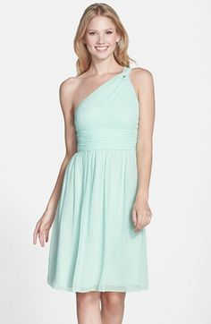 Donna Morgan 'Rhea' One-Shoulder Chiffon Dress | Nordstrom