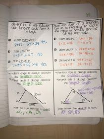 A blog about free resources for the secondary math classroom. Geometry Interactive Notebook, Interactive Notebooks, Geometry Triangles, Secondary Math, Math Classroom, Teaching Math, The Unit, School, Blog