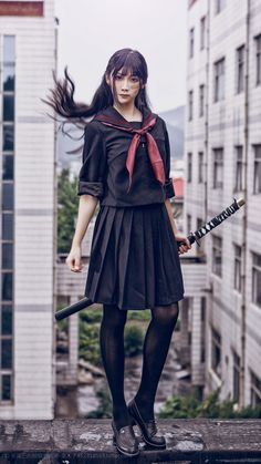 Pin on 制服 Pin on 制服 Action Pose Reference, Human Poses Reference, Pose Reference Photo, Female Reference, Sword Poses, Female Samurai, Modelos Fashion, Figure Poses, Poses References