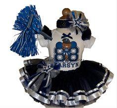 DALLAS Cheerleader Tutu Set . Navy White Tutu