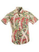 4be0fcb4 [Exclusive] Slim Fit Hawaiian Shirt [Puakenikeni Palms / Reverse Red] Palms,