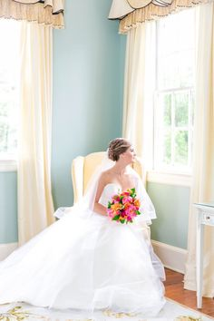 Elegant Indoor Bridal Portraits at Legare Waring House in Charleston | Legare Waring House by Charleston wedding photographer Dana Cubbage Weddings