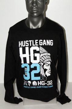 NWT HUSTLE GANG SCREENPRINT HG32 SWEATSHIRT BLACK 2418316 #HustleGang #SweatshirtCrew