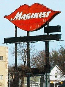 """Not just the Magikist sign, but the whole """"Great White Way"""" on the Kennedy Expressway. Much great neon on that drive once upon a time."""