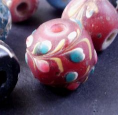 Antique Venetian Fancy Raised Floral Trade Bead by MisiZiibi, $34.00