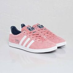 free shipping 2babf 0613b adidas Originals Womens Gazelle OG W Pink Suede Shoes Trainers