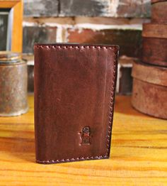 Simple Cowhide Leather Wallet - Square Edges | $64