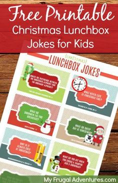 Fun printable jokes for Christmas!  The kids will love these....