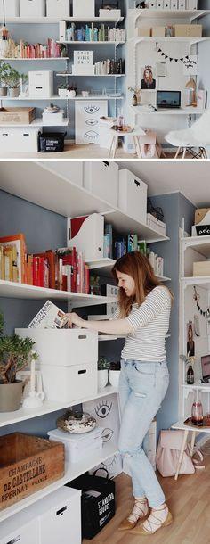 Regelwand fürs Home Office einfach selbst machen. Inklusive OBI-Einkaufsliste.