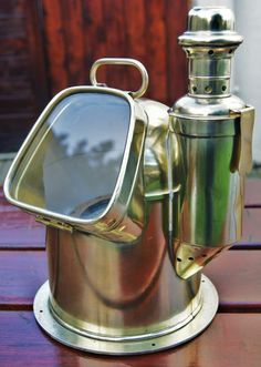 Antique Ships Brass Binnacle Compass by W Hartmann