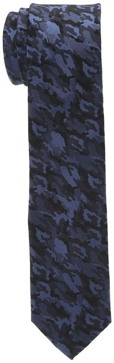 $55, Navy Camouflage Tie: Original Penguin Camo 2 Tie. Sold by Zappos. Click for more info: http://lookastic.com/men/shop_items/63122/redirect