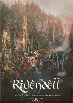 Rivendell Elves Places Art Travel Poster