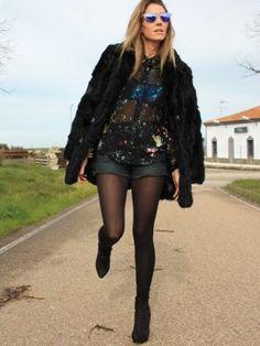 martidama Outfit  fashion shorts chic street style cool look trend style cute lookbook abrigo pelo GALÁCTICO GAFAS POLARIZADAS PRINT GALÁCTICO LOOK DE LA SEMANA COLORFUL TENDENCIAS.  Invierno 2012. Cómo vestirse y combinar según martidama el 10-2-2013