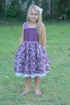 Esmee Cottage Dress Pattern. Available at Amelie and Henri on Etsy!