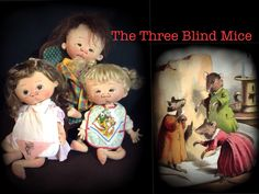 Three Blind Mice ooak set by doll artist Jan Shackelford
