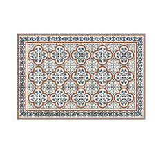 PVC vinyl mat Tiles Pattern Decorative linoleum rug Orange