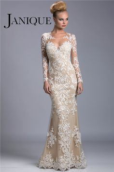 Vestido Longo Para Mae da Noiva 2014 Free Shipping Newest Mermaid Champagned Long Sleeves Mother of the Bride Evening Dresses $178.69