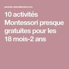 10 activités Montessori presque gratuites pour les 18 mois-2 ans