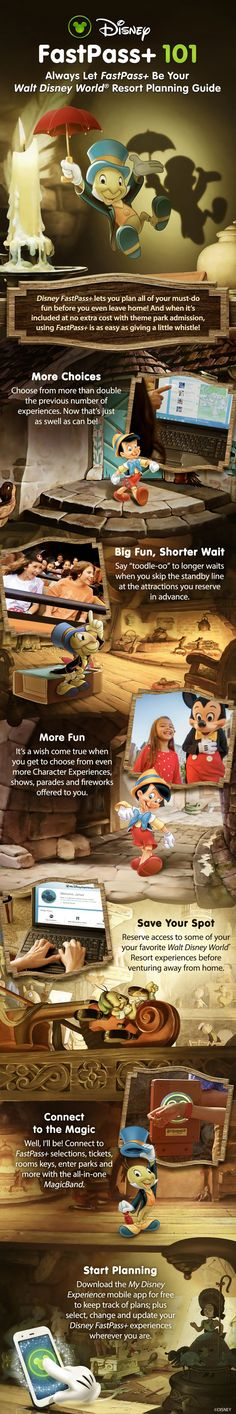 Disney FastPass+ at Walt Disney World Resort lets you plan all of your must-do fun before you even leave home! And when it's included at no extra cost with theme park admission, using FastPass+ is as easy as giving a little whistle!