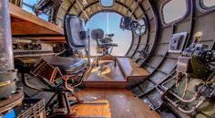 B-17 Navigator and Bombardier Positions by Michael Wong on Capture Kern County // Memphis Belle tour at  Meadows Field