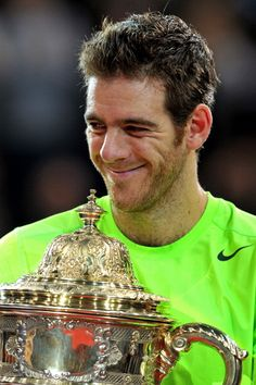 Juan Martin del Potro beat Roger Federer in three sets to win the title in Basel.