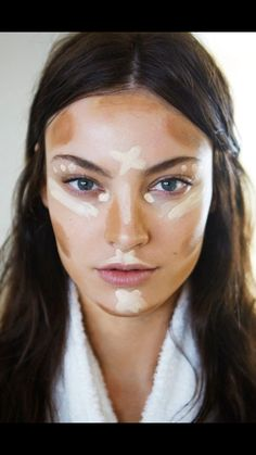 Where to highlight and where to put bronzer.