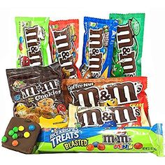 M M Candy, Candy Party, Dunkin Iced Coffee, Mint Chocolate Candy, Ariel Cake, Peanut Candy, 21st Birthday Decorations, Snack Items, Junk Food Snacks