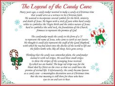 The Legend of the Candy Cane Large Printable