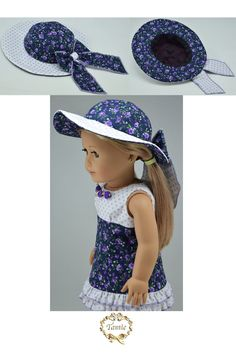 """Amelican girl doll clothes """" Special Occasion """" OOAK ( 3 pieces - Dress, Hat…"""