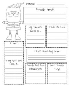 secret santa questionnaire | My Easy Folder Holders post...these have popped up all over ...