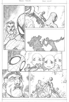 Avenging Spider-Man Issue 3 - Pencils by Joe Madureira Comic Book Layout, Comic Book Pages, Comic Book Artists, Comic Artist, Comic Books Art, Joe Madureira, Storyboard, Character Art, Character Design