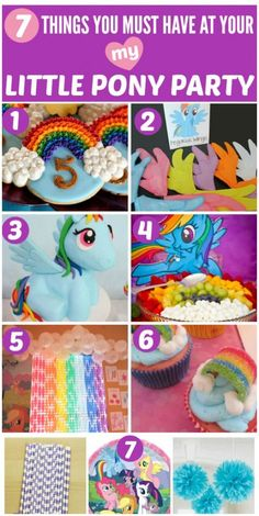 My Little Pony Party Party Ideas - 7 Must-Haves! | CatchMyParty.com