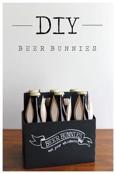 Dress up your beer with bunny ears! Nobody could resist this Easter #DIY.