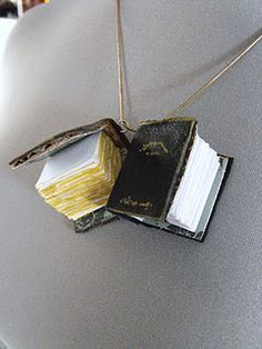 To Do...tutorial for making these mini book charms. I would love to wear my favorite books