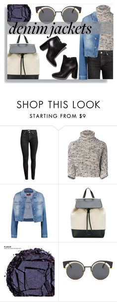 """""""♢DENIM JACKET: FALL EDITION♢"""" by tamsy13 ❤ liked on Polyvore featuring Brunello Cucinelli, 7 For All Mankind, Mansur Gavriel, Urban Decay and Pierre Hardy"""