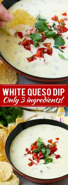 White Queso Dip Recipe | Mexican Cheese Dip | Queso Blanco Recipe
