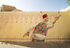 PHOTOS. Djerbahood : Quand le street-art réveille une bourgade tunisienne endormie
