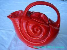 Hall China Co Seashell Teapot