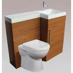 Venice Walnut Furniture Pack with Basin & Toilet - Right Hand Small Space Design, Small Space Living, Tiny Living, Walnut Furniture, Furniture Sets, Bathroom Store, Tiny Powder Rooms, Basin Unit, Beautiful Bathrooms