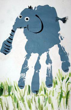 bilder mit handabdruck elefant