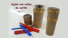 Cajita con rollos de cartón - Box with rolls of cardboard