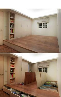 love this for storage- would plop a futon and make reading nook