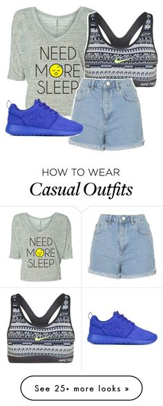 """""""Casual"""" by fangirling on Polyvore featuring NIKE and Topshop"""