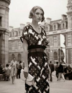 Long vintage belted dress