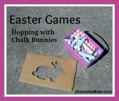 Easter Games- Hopping with Chalk Bunnies - JDaniel4s Mom