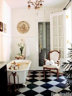 A bold, classic black and white pattern will dress-up any space