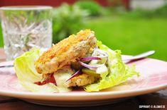 jillsmat_Chicken Burger mit Cheddar und grünen und Knoblauchdressing